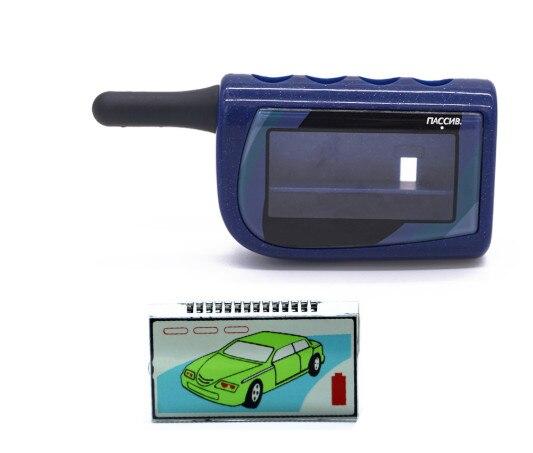 Llavero con funda M4 + pantalla Lcd M4 para Scher Khan Magicar 4, sistema de alarma bidireccional Lcd remoto para coche