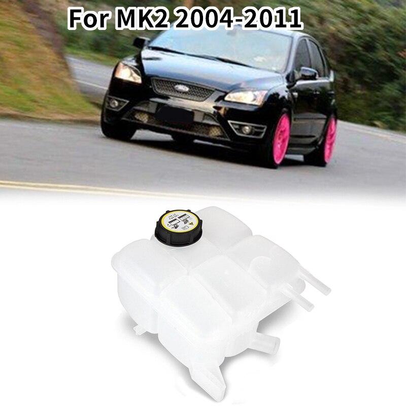 Tanque de expansión del refrigerante del radiador del coche con la tapa 30776151 30776150 para Ford Focus MK2 2004-2011