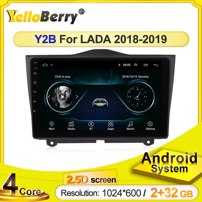 Sistema android carro multimídia player navegação gps rádio para lada grangrangrangranta cruz 2018 2019 bluetooth wifi usb