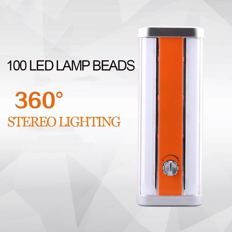 Luz LED de emergencia de falla de energía del hogar iluminación por carga Solar de Camping al aire libre luz fuerte portátil