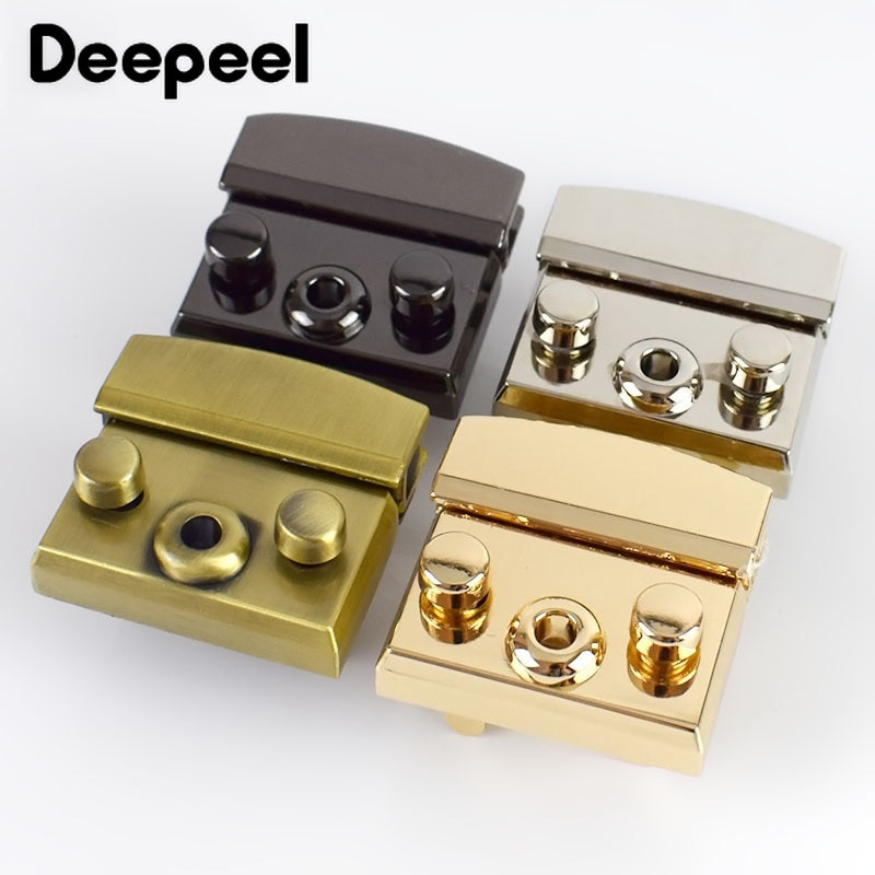 osmond alloy tone turn locks snap clasps closure buckle for bags accessories diy handbags purse alloy button replacement lock Deepeel 2pcs 50mm/35mm Handbag Bags Locks Buckles Twist Turn Snaps Clasp for DIY Replacement Purse Closure Leather Accessories