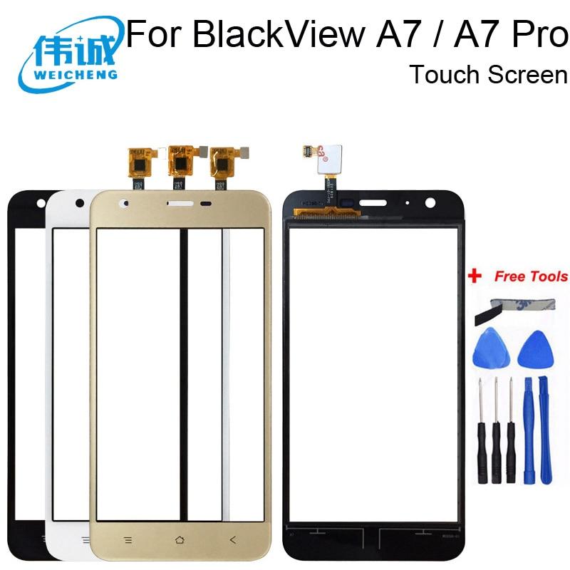 WEICHENG 5,0 por BlackView A7 / A7 Pro lente pantalla táctil Sensor Panel táctil de reemplazo de los accesorios del teléfono móvil