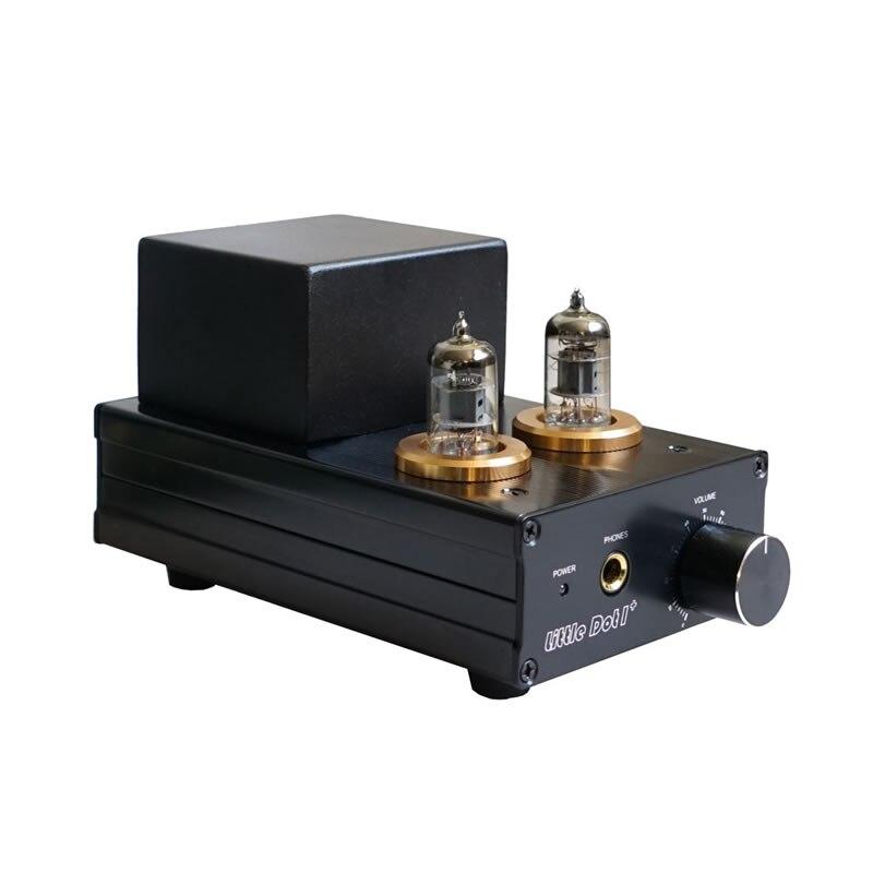 LD1 + 6J1 / EF92 o 6CQ6 / NE408A amplificador de auriculares híbrido delantero y trasero gallstone, respuesta de frecuencia 10Hz-50KHz (-3dB)