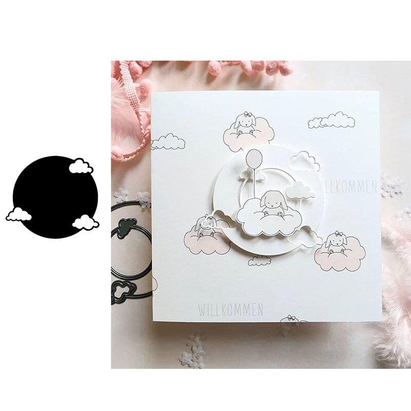 Luna Llena con nubes 2020 nuevo corte de metal diescut plantilla Scrapbooking confección de tarjetas de papel cuchilla para manualidades molde punch diecut