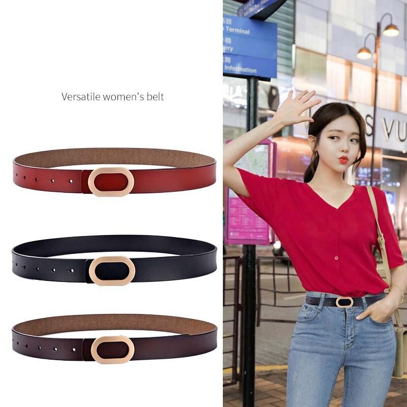 Best-selling women's belt fashion leather trend Korean personality leisure business luxury rhineston