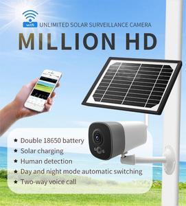 Wireless WIFI Monitor Camera Smart Solar Energy Battery Camera Remote Control Waterproof Night Vision Camera Home Surveillance