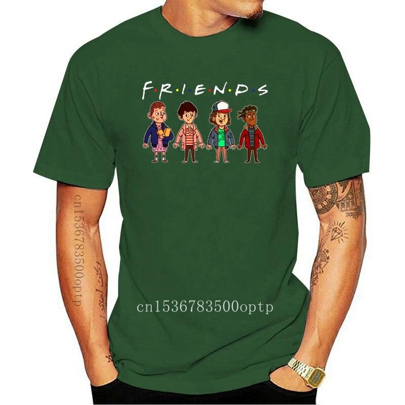 New Stranger Friends Parody Chibi Mike Dustin Lucas And Will Black T-Shirt S-3Xl Popular Tagless Tee Shirt