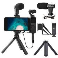 3.5mm Microphone Mic for DJI OSMO Pocket/Pocket 2 Audio Adapter Connector Phone Mount Holder Desktop Tripod for Vlogging Live