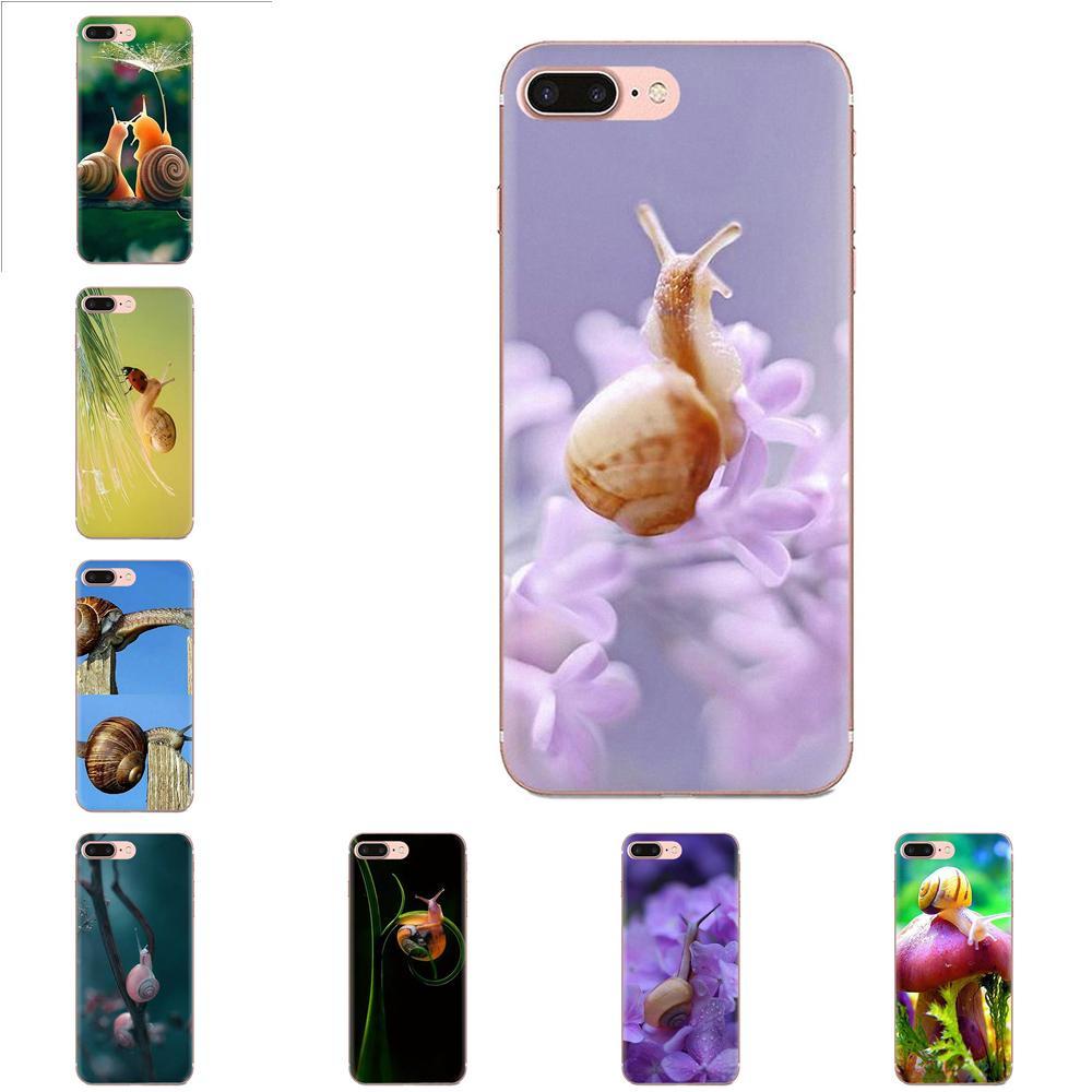 Casos voltar À Prova de Choque Para Apple iPhone 4 4S 5 5C 5S SE 6 6S 7 8 11 Plus Pro X XS Max XR Cogumelo Caracol Inteligente