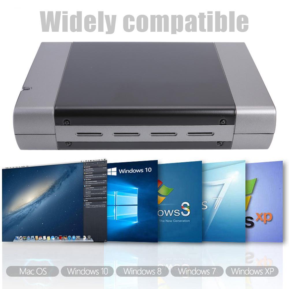 الأوروبية القياسية 5.25 بوصة طابعة للبطاقات اللاصقة USB3.0 دعم سطح المكتب المحمول 3.5in القرص الصلب SATA واجهة أقصى دعم 8T