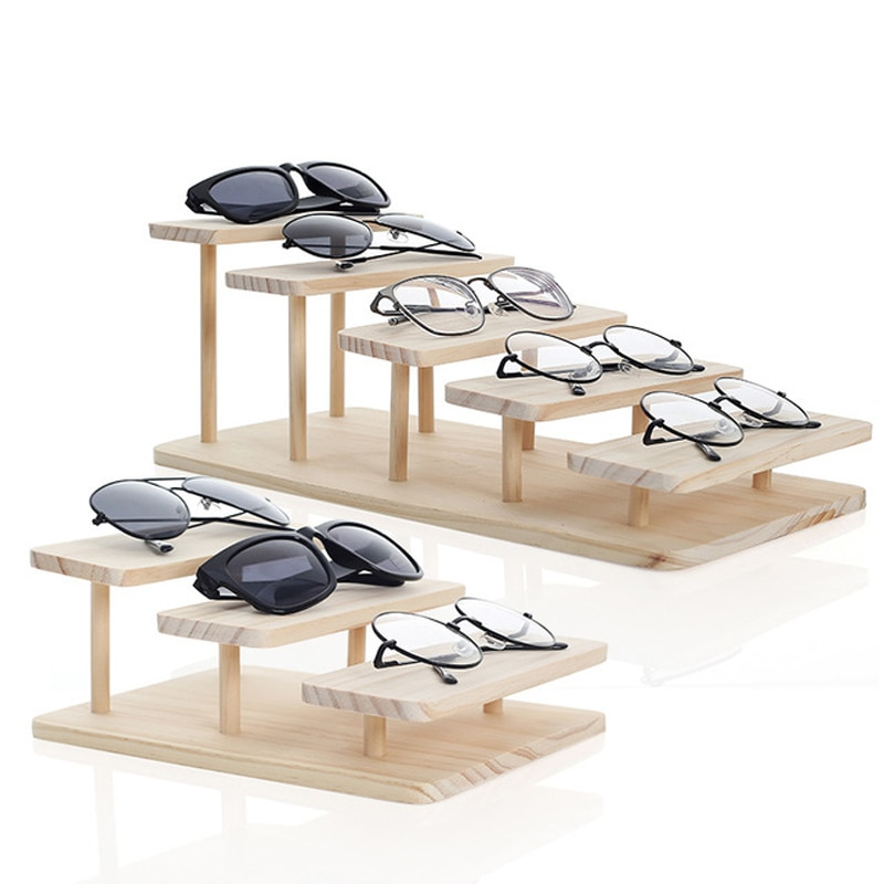 aliexpress.com - New Arrival Assembleable Bamboo Sunglasses Stand Glasses Display Jewelry Holder Bracelet Watches Show Product 1-5 Layers Options
