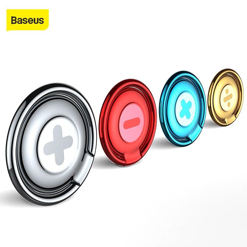Soporte Universal para anillo de teléfono Baseus 360 con rotación para iPhone 7 6 Samsung S8 Plus, soporte para teléfono móvil