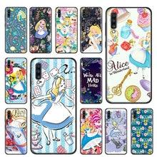Alice in Wonderland Princess Cartoon Soft Case For Samsung Galaxy A10 A10E A20 A30 A50 S A40 A70 A60 A80 A90 A51 A71 TPU Cover