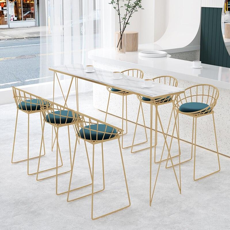 الحديد الفن ميسا دي بار ألتا التجارية أثاث المطبخ طاولات الطعام الرخام البساطة الجداول الأثاث للمنزل طاولة بسطح عالٍ
