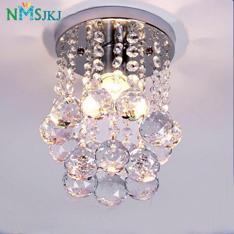 Moderno candelabro pequeño de cristal luz brillante con tapa K9 Acero inoxidable FrameD16cm H23cm
