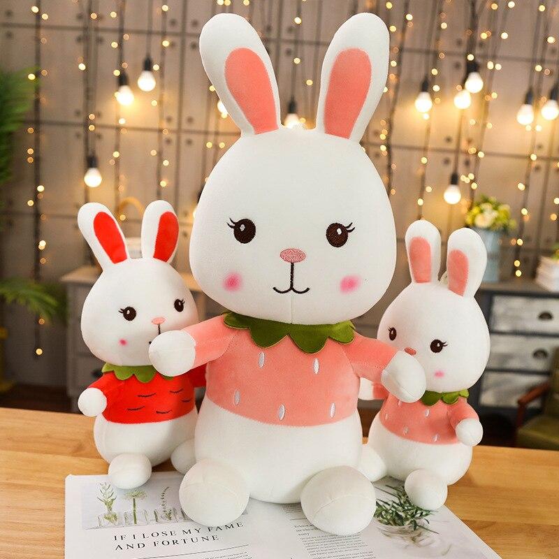 Hot 30-55CM Cute Plush Toy Rabbit Doll Baby Girl Gift Soft Kawaii Stuffed Bunny Christmas