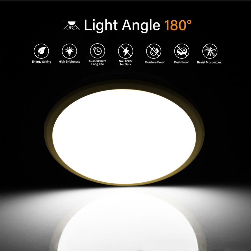 LED Slim à prova de Tri-Luz de Teto Redonda 18 /24 /40 W 220-240V Lâmpada Moderna para a Iluminação Home CONDUZIU a Lâmpada Do Painel LEVOU Luz de Teto