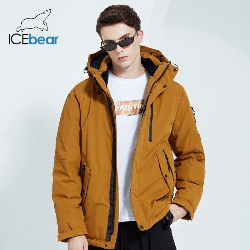 Outono e Inverno Cabolsa com Capuz Icebear Novo Masculino Quente Algodão Jaqueta Moda Roupas Masculinas Mwd20853d 2022