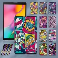 case for samsung galaxy tab a 10 1 2019 t510t515 graffiti art pattern slim plastic tablet protective shell cover free stylus
