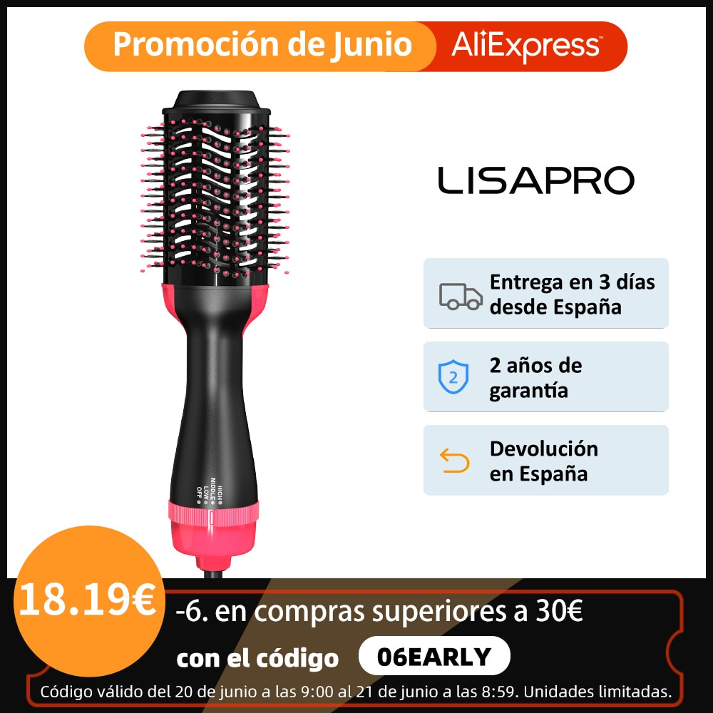 hot sale new professional hot air blower electric water heater quick and convenient beauty brush one step hair dryer and style LISAPRO 3 IN 1 Hot Air Brush One-Step Hair Dryer And Volumizer Styler and Dryer Blow Dryer Brush Professional Brush Hair Dryers