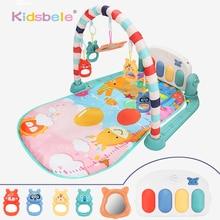 Детский коврик для занятий в тренажерном зале, игровой коврик, музыкальные погремушки для фортепиано, игрушки для малышей 0-12 месяцев, ползающая головоломка для раннего обучения, коврик, игрушки