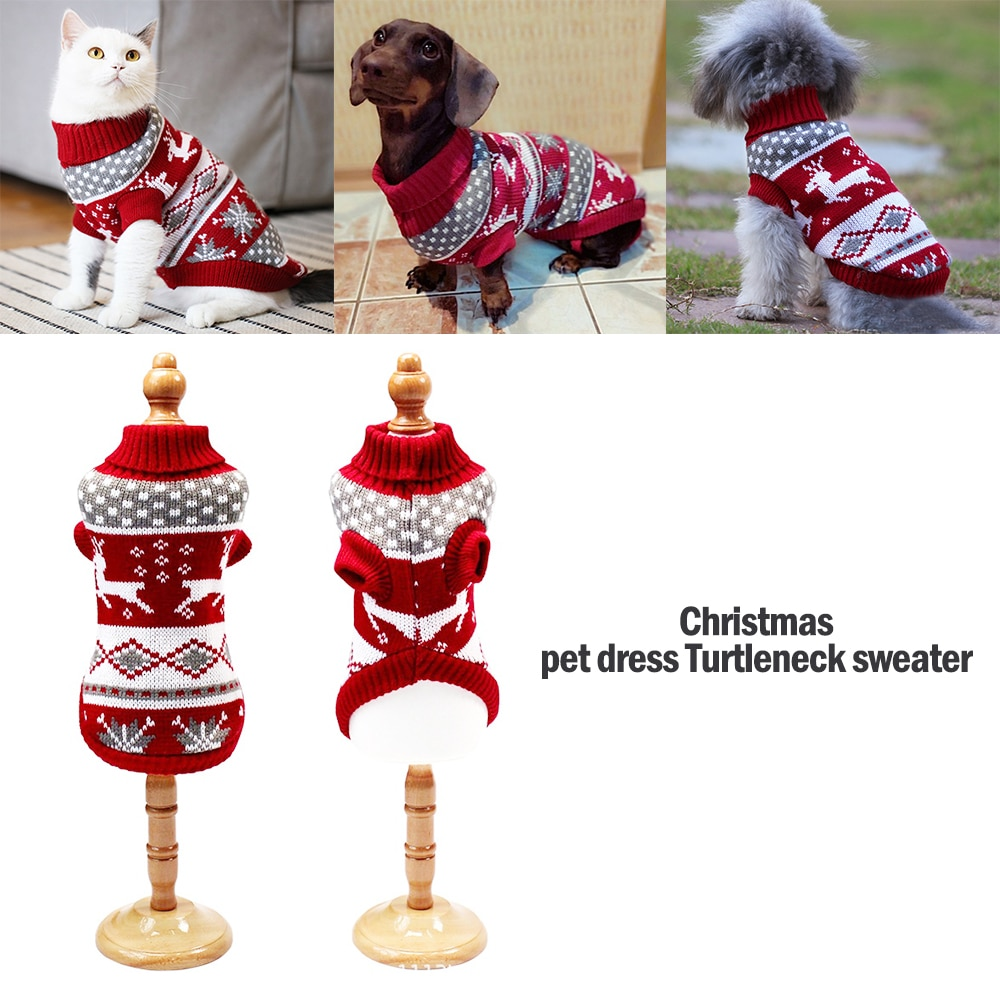 Рождественский свитер для кошек и собак, пуловер, зимняя одежда для собак, для маленьких собак, чихуахуа, йоркширская куртка для щенков, одежда для домашних животных, товары для домашних животных