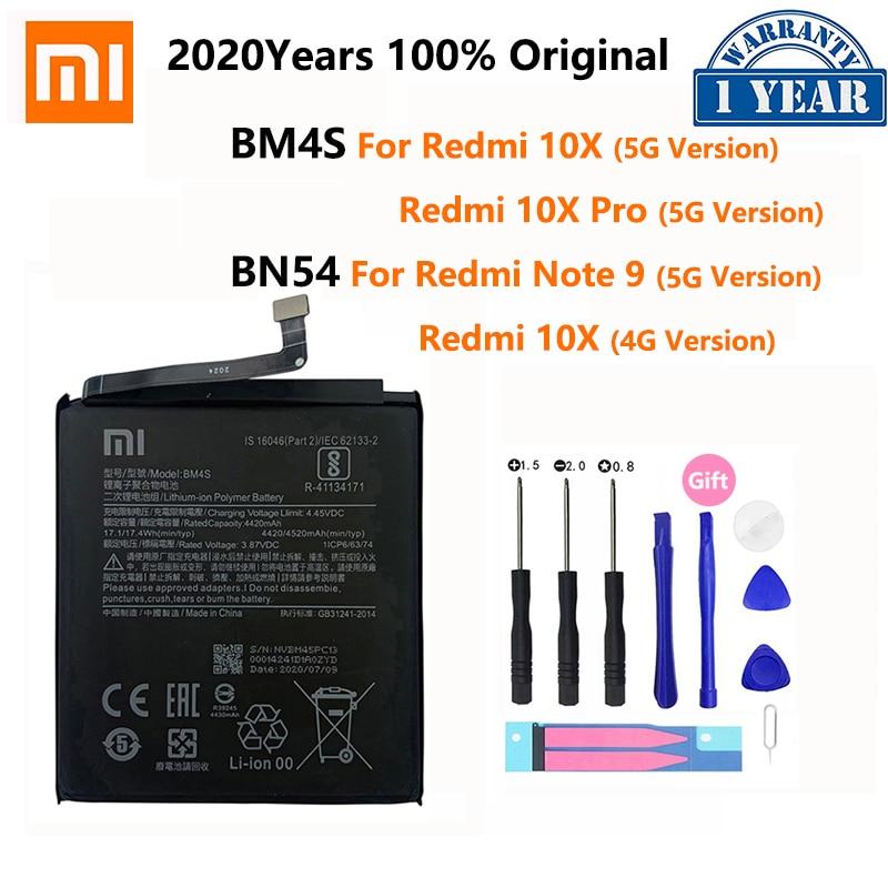 Batería de teléfono BM4S BN54, 100% Original, para Xiaomi Redmi 10X Pro...
