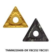 Le carbure de ZCC Original insère TNMM 220408 TNMM220408-DR YBC252 YBC351 TNMM22 pour la coupe de CNC de coupeur de tour doutils de tournage en acier
