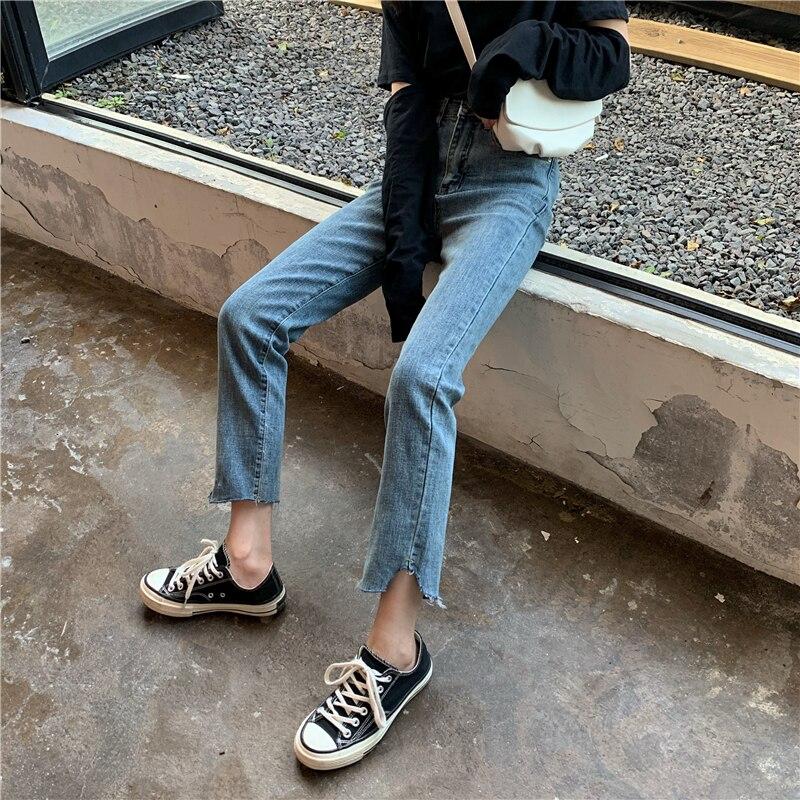 Jeans Women's Korean-Style High Waist Slimming Loose Versatile Student Retro Hong Kong Style Net Red