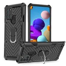 For Samsung Galaxy A21 A21S Case Luxury Armor Car Holder Ring Back Cover for Galaxy A01 A11 EU A31 A