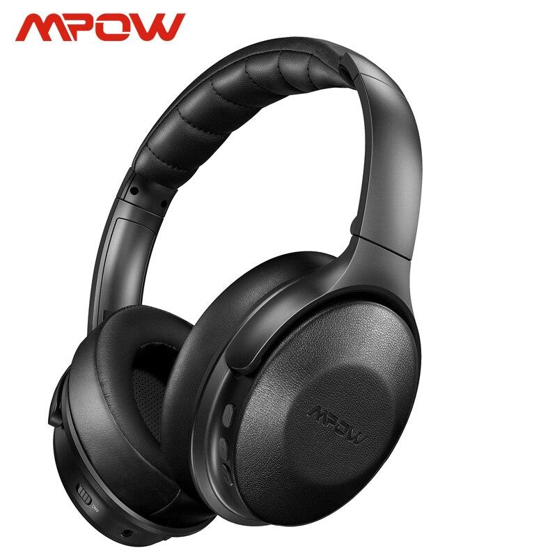 Mpow H17-Auriculares con sonido activo, ANC inalámbricos con 30 horas de duración de reproducción, auriculares suaves Hi-Fi estéreo con carga de 10min y 2 horas de reproducción