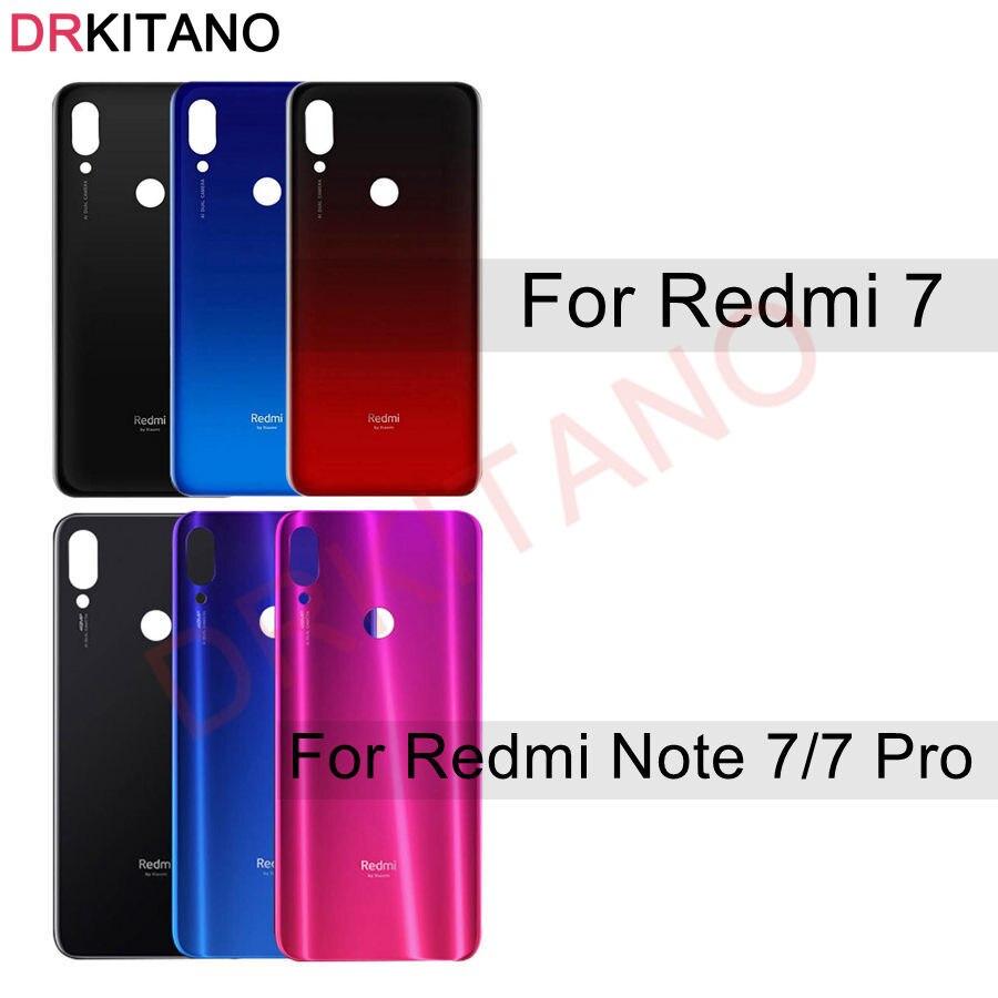 Cubierta trasera de cristal para Xiaomi Redmi Note7 Note 7, cubierta de batería, carcasa del Panel de la puerta trasera para Redmi Note 7 Pro, cubierta de batería