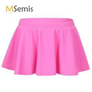 Kids Girls Swimsuit Quick Dry Soft Rashguard Swimwear Elastic Waistband Swimming Bottom Bikini Skort Swim Skirt Bathing Suit