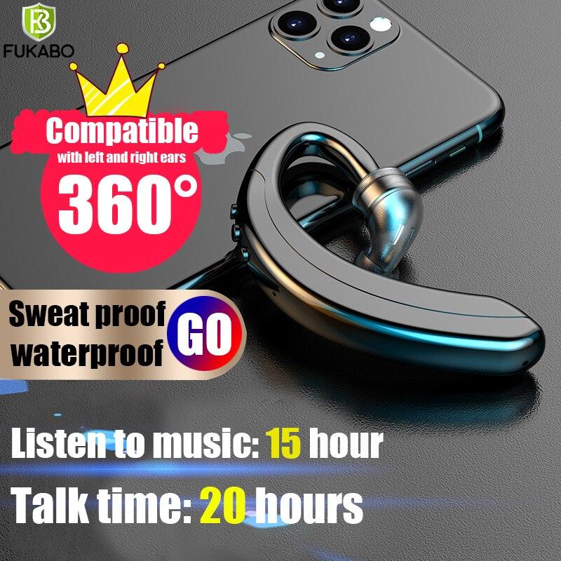 360 grados de izquierda/derecha de doble uso Bluetooth 5,0 auriculares de negocios Mini auriculares inalámbricos auriculares de música auriculares con micrófono