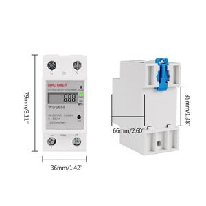 WIFI Din Rail AC 90-250V Single Phase Energy Meter Switch Timer Power Monitor