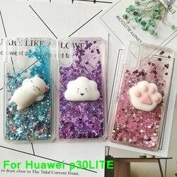 3d Squishy Katze Fall Für Huawei P20 Lite P30 Pro P30 Lite Mate 30 Litcase Flüssigkeit Quicksand Glitter Silikon Fall Abdeckung Coque Phone Case Covers Aliexpress