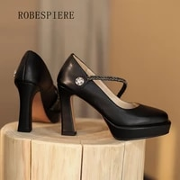 robespiere sexy patent leather ladies plus size high heelshot sale women party wedding pumps handmade a53