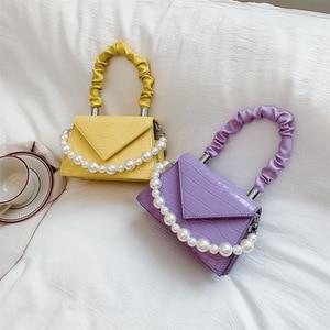 Crocodile pattern Tote bag 2020 Fashion New High-quality PU Leather Women's Designer Handbag Pearl Chain Shoulder Messenger Bag