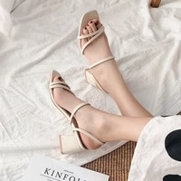 high heeled shoes sandals slippers women fashion mid heel sandals and slippers outdoor casual shoes womens shoes with a word