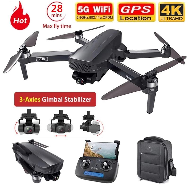Dron SG908 con GPS, cardán de 3 ejes, 4K, cámara 5G, Wifi,...