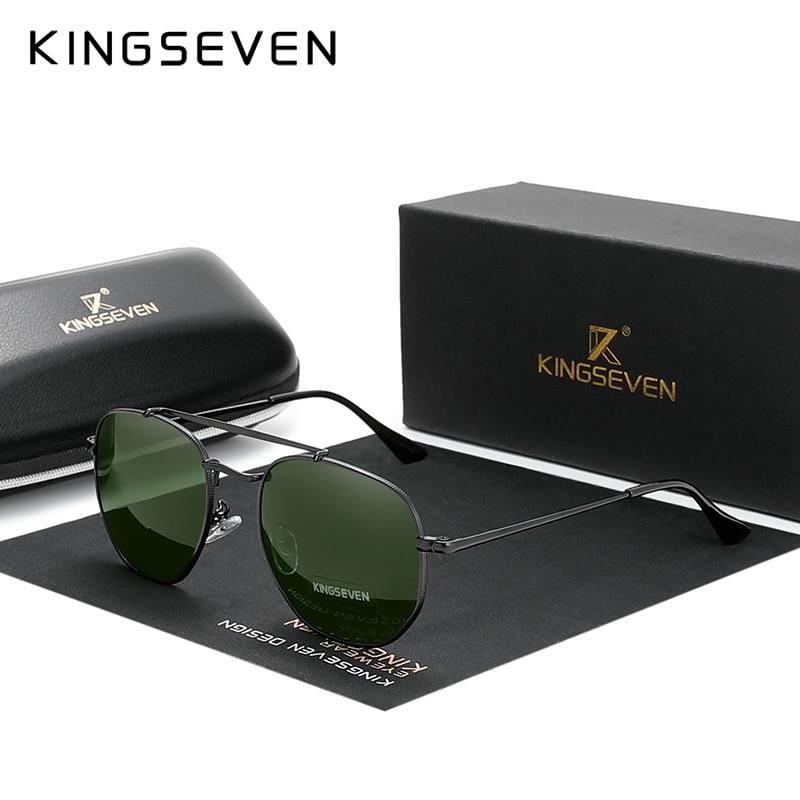 KINGSEVEN gafas polarizadas Steampunk para hombre, gafas de sol redondas para hombre, gafas de sol Retro Para mujer para hombre Estilo Vintage