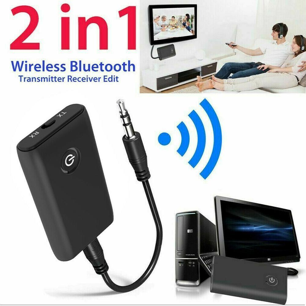 2 In 1 Bluetooth 5.0 Transmitter Receiver TV PC Car Speaker 3.5mm  Hifi Music Audio Adapter Headphones Car Home Stereo Device