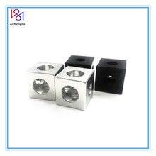 Imprimante 3D pièces openbuild 2020 aluminium bloc Cube prisme connecteur roue régulateur cube coin v-slot trois voies coin support