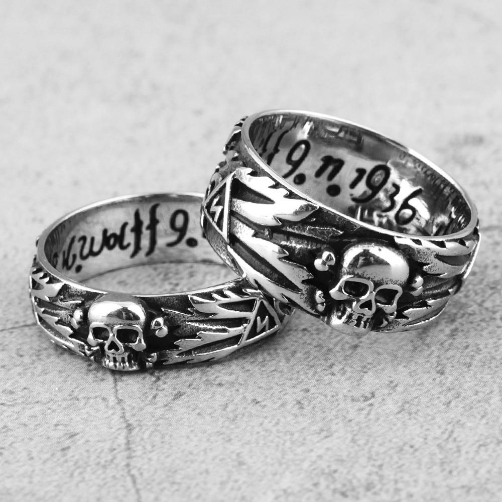 Мужские кольца из нержавеющей стали, властный череп, дьявол, панк, готический хип-хоп, простые для байкеров, мужские ювелирные изделия для мальчиков, креативные подарки, оптовая продажа