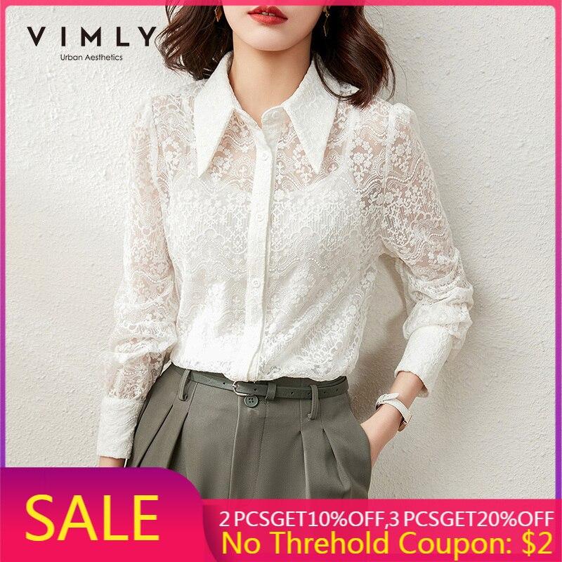 Viily-بلوزة أنيقة من الدانتيل بأكمام منتفخة ، قميص مكتب نسائي ، ملابس عتيقة ، F6580
