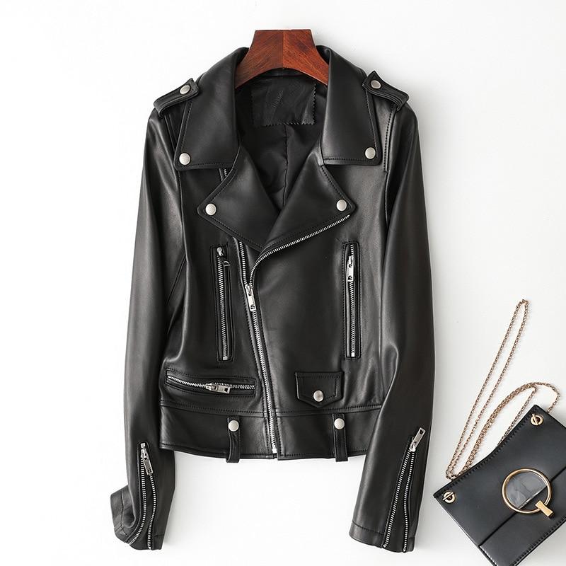 Special price Haining leather coat women's short coat 2020 spring and autumn Korean locomotive clothing sheep leather jacket enlarge