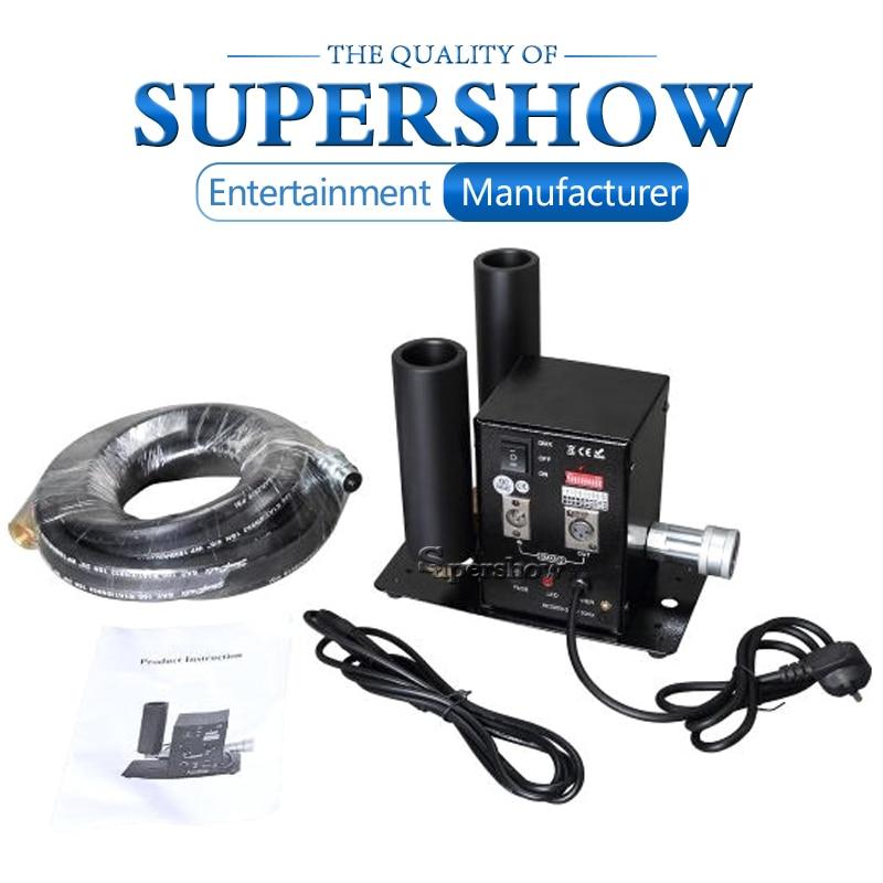 Doble cañón, máquina de chorro de CO2 DMX con mangueras de alta presión, efecto de escenario para Bar, KTV, DJ, boda, láser, efectos de Par de luz