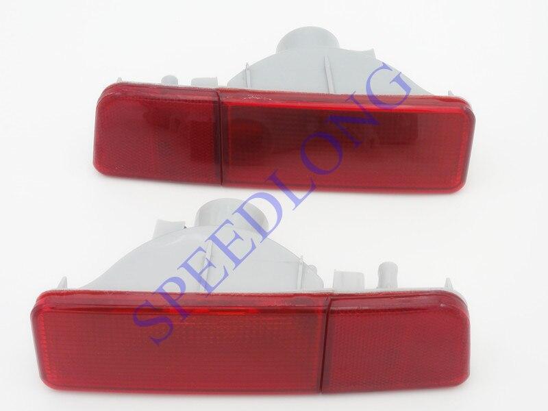 2 Pcs/Pair Rear Bumper Light Fog Reflector Lamp Red lens Tail Light for Mitsubishi Outlander EU MODLE 2003-2004