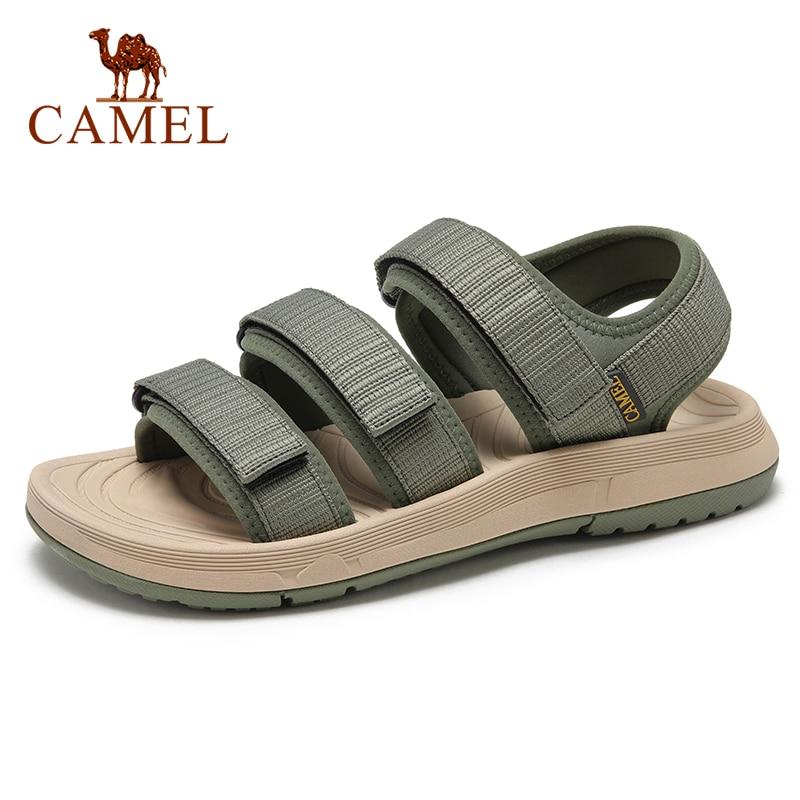 CAMEL, moda de alta calidad, zapatos suaves de exterior para hombre, sandalias antideslizantes de verano, zapatillas de playa informales, calzado