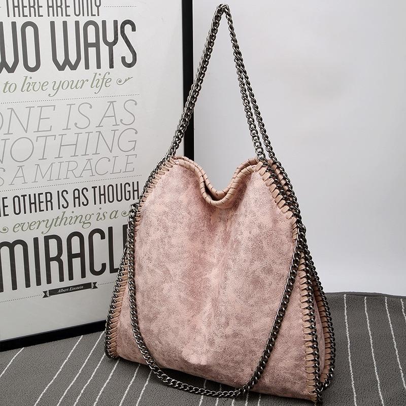 2021 Tamara Autumn Winter New Frosted Material Handbag Chain Woven Foldable Lady's Shoulder Bag Women Multi-funcation Bag